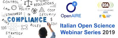 Italian open science webinar series 2019